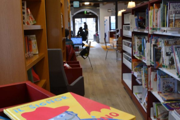 Pavimento in legno Biblioteca di Tirano
