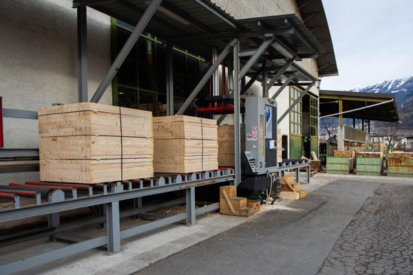 confezionamento delle lamine di legno