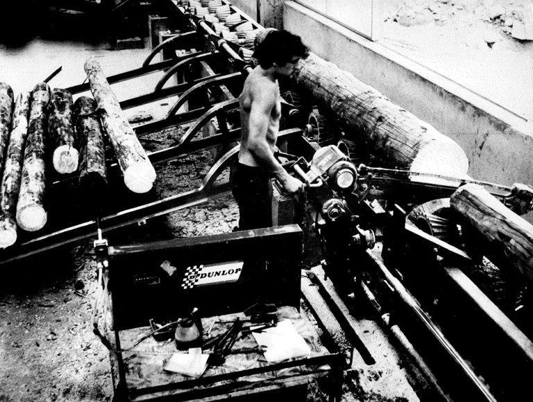 taglio del legno - foto storica