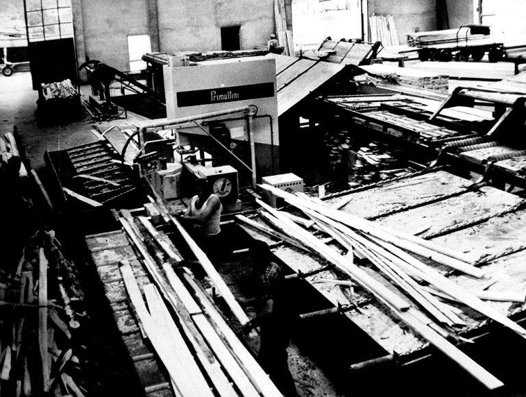 Lavorazioni professionali del legno nella segheria Ghilotti